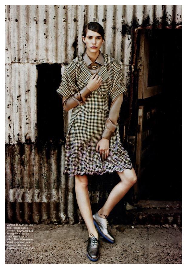 Carla Ciffoni Layers In Fall Knitwear For Elle Uk By